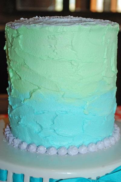 Poka dot pastel cake